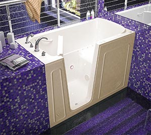 bathtub for seniors depth