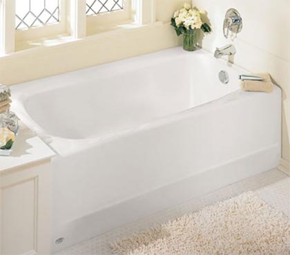 standard bathtub size