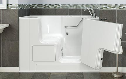 standard walk in tub dimensions