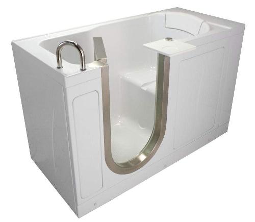 space saving inward swinging door bathtub